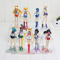 15cm Anime Sailor Moon Tsukino Usagi Hino Rei Mercury Ami PVC Action Figure Toy 6 styles can choose