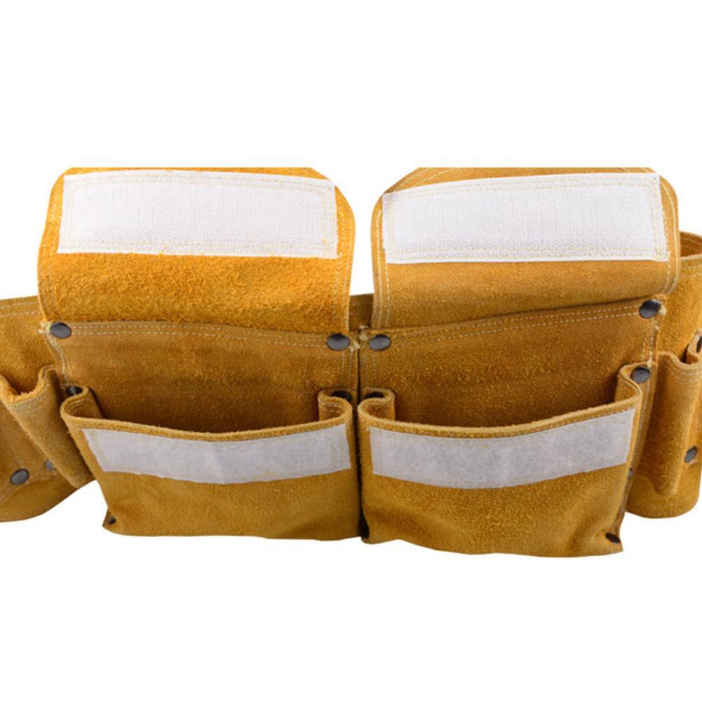 Hardware Electrical Tool Bags Adjustable Waist Belt Tools Pockets Repair Kit Cattle Hide Leather Bag For Electrical popular white cattle hide zip womens sneakers