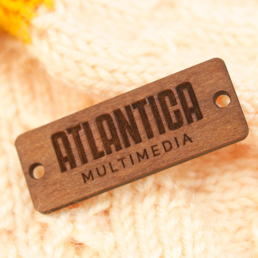Wooden Product Tags tags for Handmade Products or Clothing knitting crochet logo branding WDBQ18 in DIY Craft Supplies from Home Garden