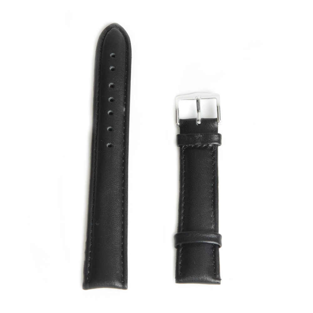 14mm Brand New Genuine Leather Watch Band Strap Watchband for Women Dress Watch Gift Black life Waterproof