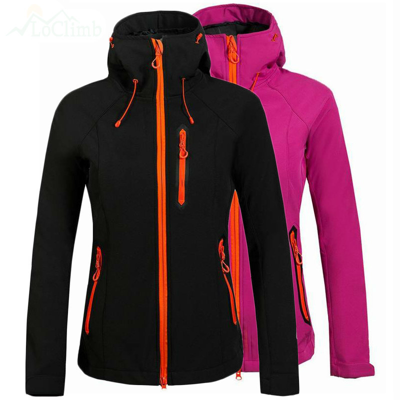 цена на Mortonpart Fleece Heated Softshell Waterproof Outdoor Ski Jacket Women Mountain Climbing Rain Windbreaker Coat Hiking Jackets