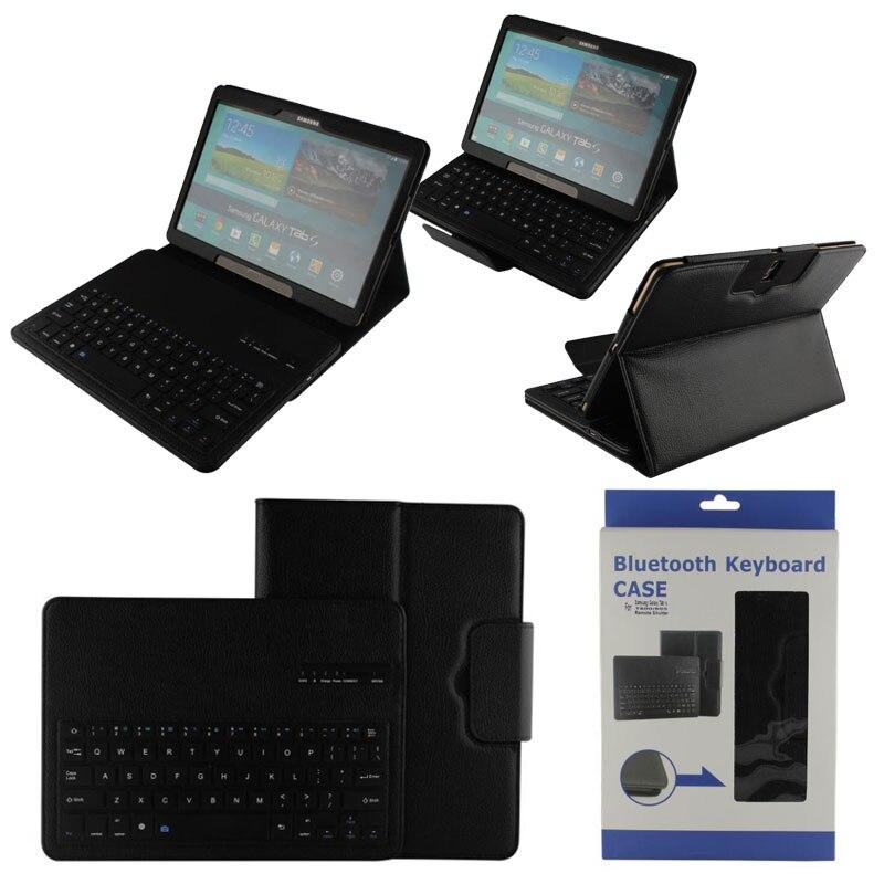 Amovible Sans Fil Bluetooth Clavier ABS étui en cuir pour support Pour Samsung Galaxy Tab S 10.5 T800 T801 T805