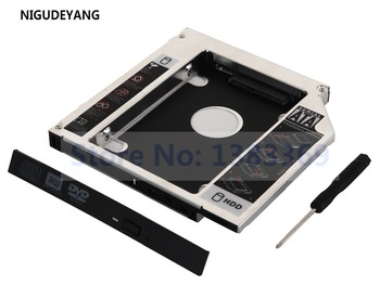 NIGUDEYANG SATA 2nd Second Hard Drive Tray HDD SSD Optical bay Caddy Adapter for ASUS K501J N56VB-S4129D M50VM GSA-T50N image