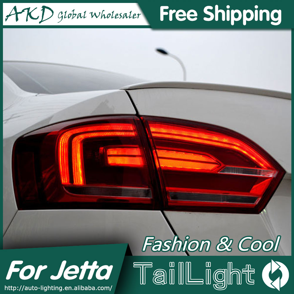 AKD Car Styling for VW Jetta MK6 Tail Lights North America Design Jetta LED Tail Light Rear Lamp DRL+Brake+Park+Signal led tail light for vw jetta 5 2006 2010 rear light