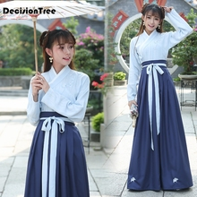 2019 hanfu national costume ancient chinese cosplay women folk dance clothes lady stage dress