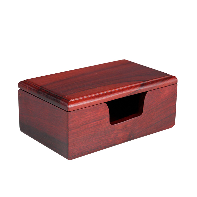 US $9 99 |New Arrivals Wholesale Large capacity Desktop business card  holders Rosewood cardcase Display Stand Natural Solid wood F007352-in Home