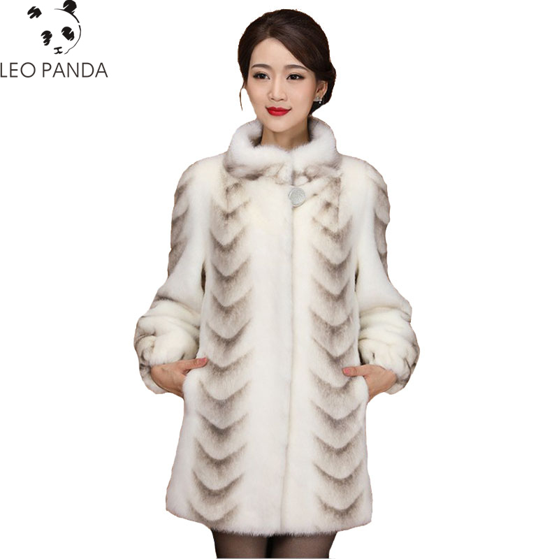 Superior quality Real Mink Fur Coat For Women China Full Sleeve Thick Warm Long Genuine Natural