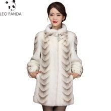 Высокое качество натуральный норковый мех пальто для женщин Китай длинный рукав толстый теплый длинный натуральный мех пальто плюс размер 3xl