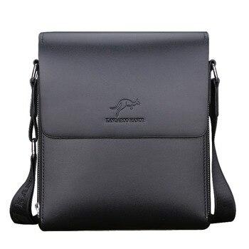 Brand Double Design Cow Split leather Male bag Shoulder bags man Satchel  Leather business Fashion Portable Messenger bags
