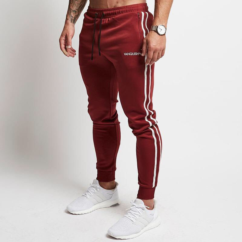Gold men's summer fashion trousers men's gyms sweatpants casual men's street suit sportswear Jogger fitness men's clothing