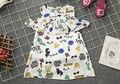 Vestido Floral Del Verano de Nueva Manera Del Bebé Cabritos de La Muchacha Sin Mangas Niño de Dibujos Animados Princesa Party Prom Vestidos de Playa de Verano 2-7Y