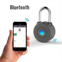 Neue Design Smart Bluetooth Vorhängeschloss Anti-Fahrraddiebstahlwarnsperre Drahtlose Steuerung Vorhängeschloss Smart Lock Für IOS Android APP Steuer