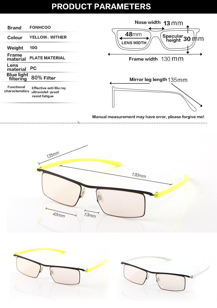 Fonhcoo Stilvolle Tr Gläser Rahmen Frauen Runde Optische Computer Gaming Gläser Anti Blau Licht Blockieren Gläser Anti Ermüdung Der Augen Brillenrahmen