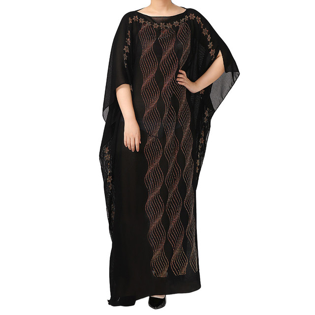 National Style Dubai Abaya Women Muslim Dress Loose Abaya Kaftan Turkish Muslim Women Long Dress Turkish Islam  Muslim Dress A 5