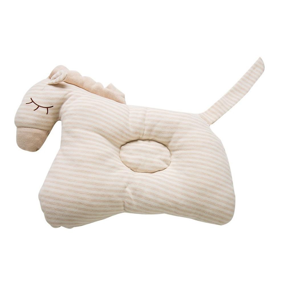 Мягкие детские форменная подушка хлопок груди Подушка для новорожденного для новорожденных Прямая - Цвет: horse khaki
