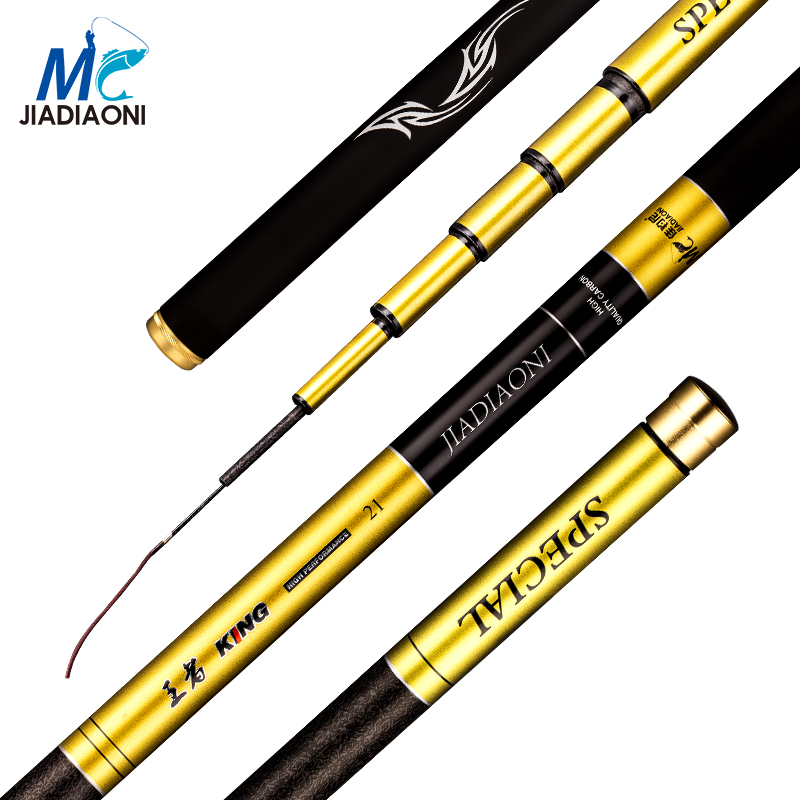 JIADIAONI Carbon Taiwan Fly Fishing Rod 3.6m 4.5m 5.4m 6.3m Telescopic Taiwan Fishing Rod Professional Pole Fashing TackleJIADIAONI Carbon Taiwan Fly Fishing Rod 3.6m 4.5m 5.4m 6.3m Telescopic Taiwan Fishing Rod Professional Pole Fashing Tackle