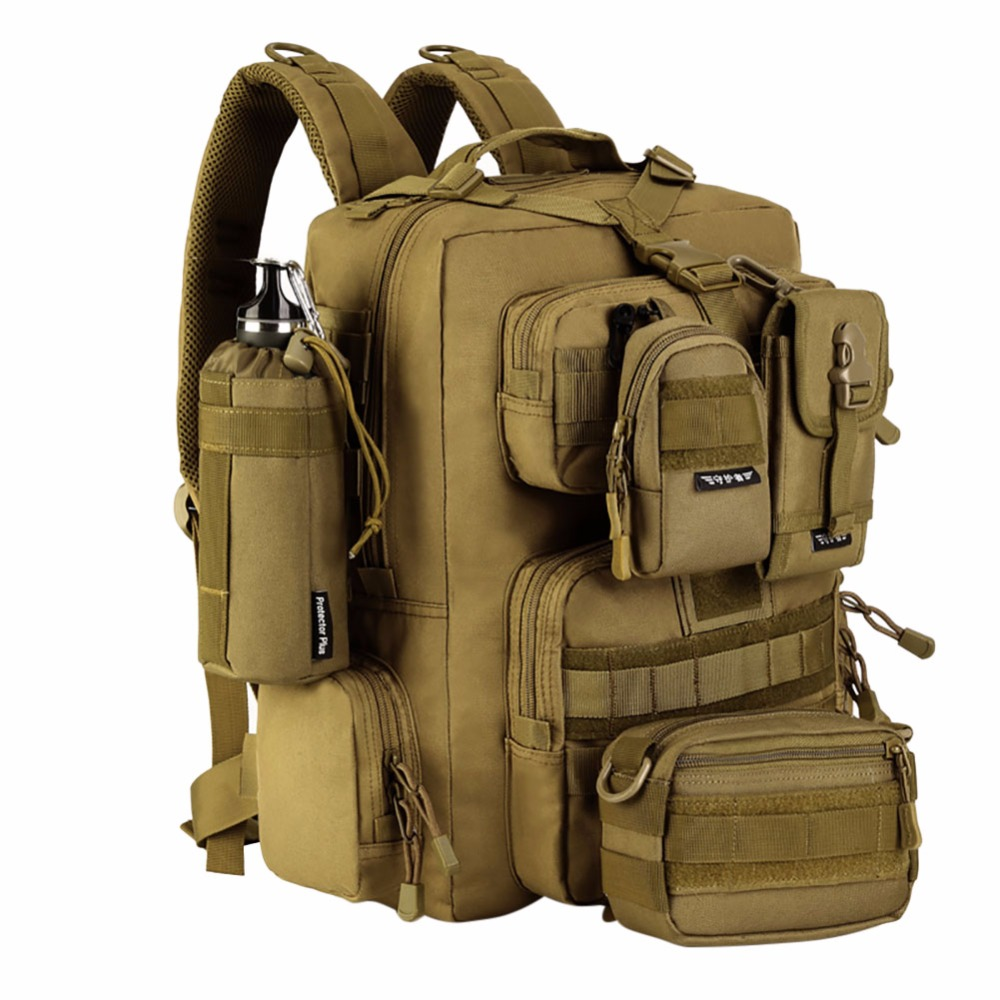 Military Tactical Bag Assault Backpack Army Molle Waterproof Bug Out Bags Backpack Small Rucksack for Outdoor Hiking Camping New emersongear lbt2649b hydration carrier for 1961ar molle backpack military tactical bags hunting bag multicam tropic arid black
