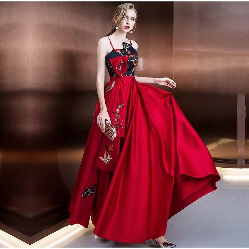 Longue robe de fiançailles pour femme