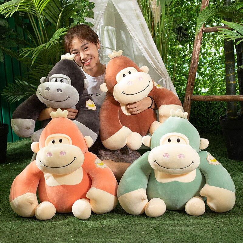 48cm large Little King Kong stuffed Gorilla animal soft toys Plush monkey Toy Chimpanzee Cartoon Pillow Children gifts R050