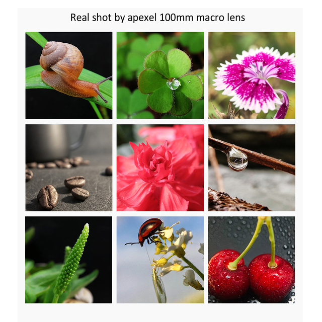 APEXEL camera phone lens 100mm macro lens 4K HD super macro lenses+CPL+star filter for iPhonex xs max Samsung s9 all smartphone 3
