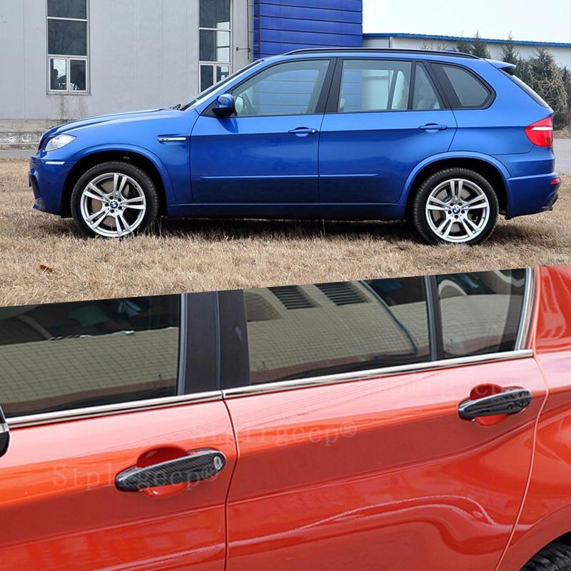 Pour BMW x5M x5 M E70 2010 2011 2012 2013 accessoires 100% véritable couverture de poignée de porte extérieure en fibre de carbone