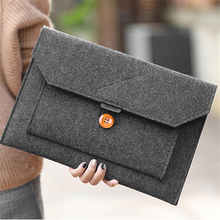 Модные шерстяные фетровый карман для ноутбука сумка Тетрадь Сумочка чехол для Macbook Air Pro retina 11 12 13 15 hp ASUS lenovo мягкий чехол для ноутбука сумка
