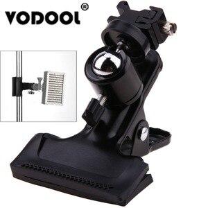 Image 1 - VODOOL 전문 금속 사진 스튜디오 배경 클램프 볼 헤드 핫슈 어댑터 플래시 라이트 스탠드 브라켓 w 1/4 표준 스레드