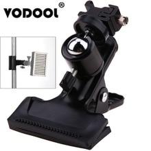 Vodoolプロ金属フォトスタジオバックドロップクランプボールヘッドホットシューアダプターフラッシュライトはw 1/4 標準スレッド