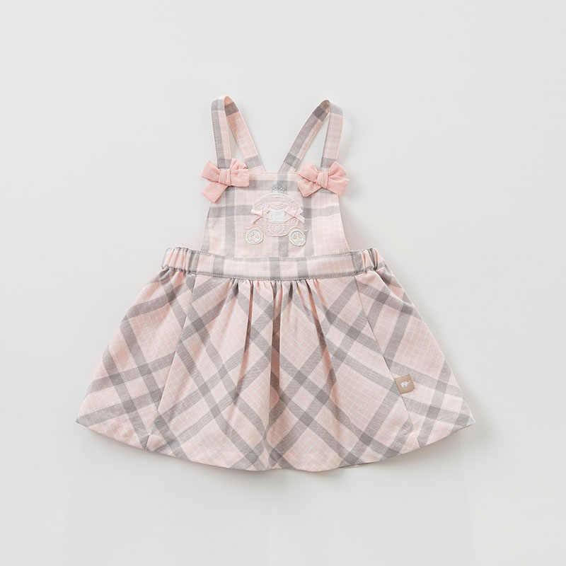 DBJ9674 dave bella/весенние детские платья принцессы платье лолиты для девочек детское хлопковое платье без рукавов высокого качества