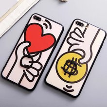 New Fashion Cute Phone Cover for iPhone 7 with Stand Ring Holder Mobile Phone Back Protective Shell Case for iPhone 7 Plus