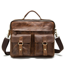 Europe and the United States men's bag restore ancient men inclined shoulder bag head layer cowhide leather handbag