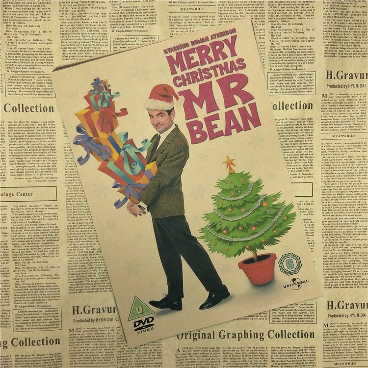 Mr. Bean core Hollywood Kraft Poster Decoration Retro Posters Home Decor Art Painting Picture Wall Sticker Mural