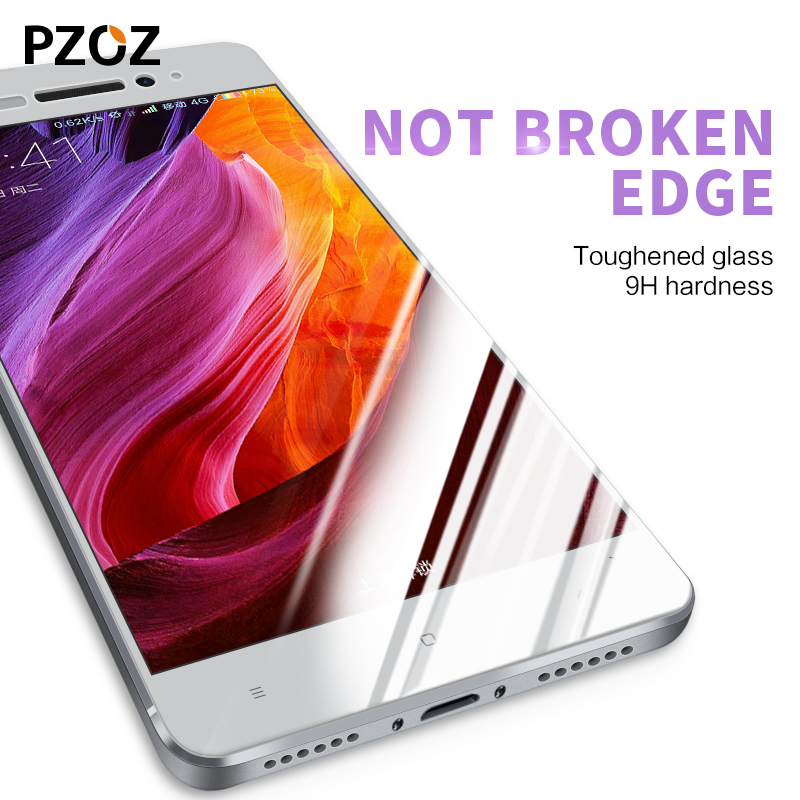 Pzoz xiaomi redmi 4 pro glass tempered full cover prime screen protector xiomi redmi 4 glass film original xaomi 4 redmi4 2.5D