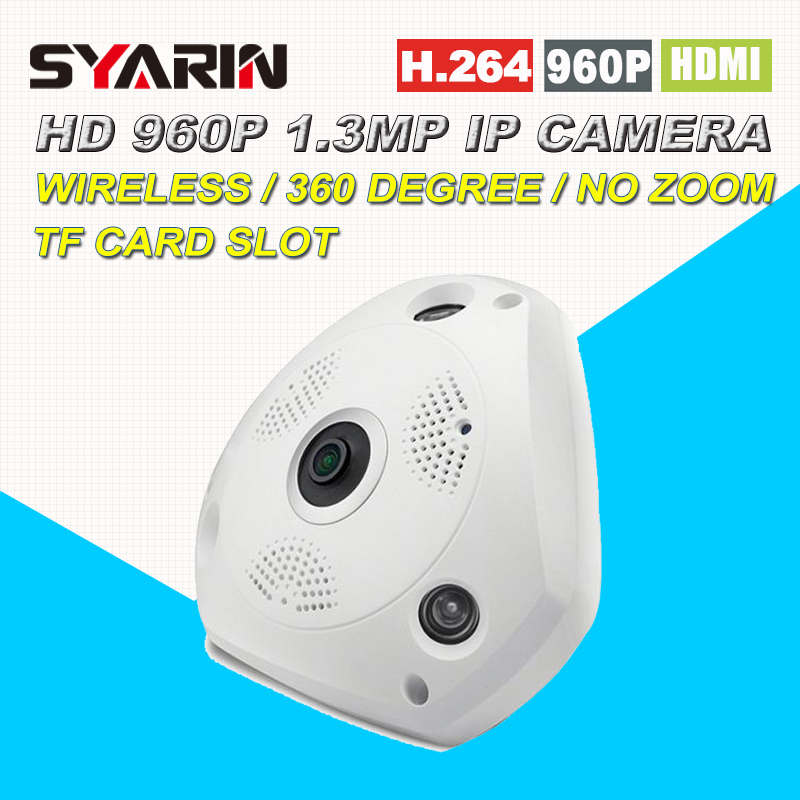 Wireless 360 Panoramic 960P HD 1.3MP P2P Plug Play IP Camera with TF Micro SD Card Slot Free APP for 100sqm office купить