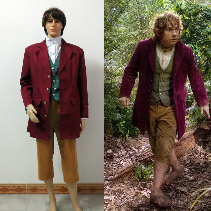 The Hobbit The Lord Of The Rings Bilbo Baggins Cosplay Costume Tailor made