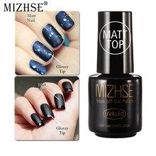 MIZHSE верхнее Базовое покрытие для нейл-арта, Перманентная эмаль, матовое верхнее покрытие, гель-лаки, замочить, лак для ногтей для УФ-и светодиодной лампы, грунтовка, все для дизайна ногтей