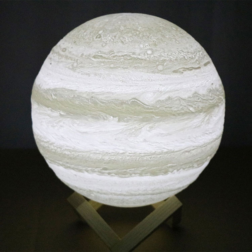 3D Moon Lamp Rechargeable Dimmable Touch Night Light For Valentine 39 s Day Creative Gift Jupiter Lamp For Lover Kid Bedside Light in LED Night Lights from Lights amp Lighting