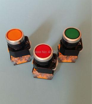 """10 piezas interruptor de botón pulsador reinicio LA38-11 interruptor 22mm 7/8 """"10A 660 V CA"""