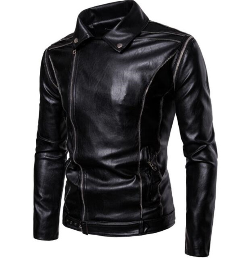Motorcycle Jacket Men Classical Vintage Retro PU Leather Jacket Punk Windproof Riding Casual Bomber Moto JacketMotorcycle Jacket Men Classical Vintage Retro PU Leather Jacket Punk Windproof Riding Casual Bomber Moto Jacket
