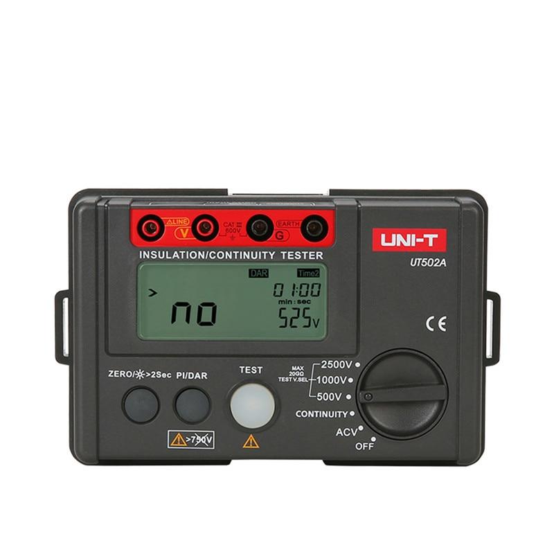 Digital Resistance Meters UNI-T UT502A 2500V Insulation Resistance Testers Megohmmeter Voltmeter Continuity Tester megger