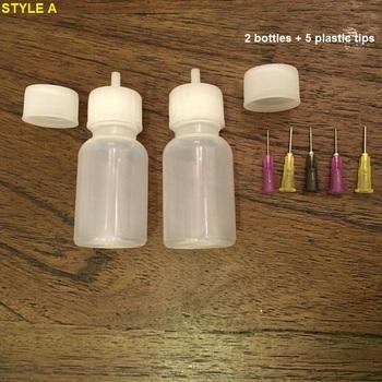 Mehndi tatuaż z henny JAC aplikator do butelek 30ML z 2 zaślepka uszczelniająca i 5 końcówek do pasty do szablonów dla początkujących tanie i dobre opinie Farba ciała 10ML VLB-02 1 Set Plastic Metal VamsLuna 2 bottle + 5 tips JB-01A