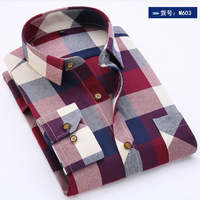 New Fashion 2016 Spring Autumn Men Casual Plaid Shirt Long Sleeve Slim Fit Cotton Man Clothes