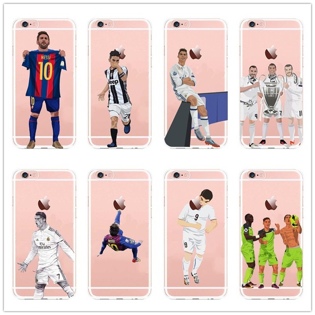 Soccer Stars Soft Cases For iPhone 4/5s, 6/7 Plus, 7