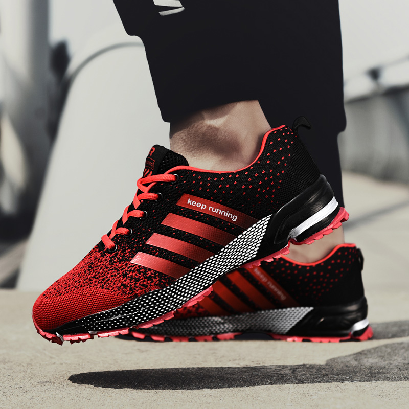 2018 New Arrival Running Shoes For Men Brand Outdoor Athletic Male Sneakers Breathable Lace-up Height Increasing Sport Shoe