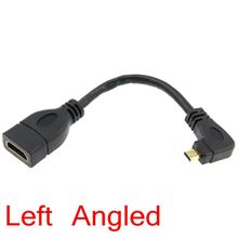 Angled Type D Micro HDMI to HDMI Female Extension Connector Cable 90 degree Right & Left angled 15cm V1.4 Adapter Converter