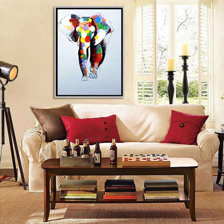 مجردة الحديثة قماش جدار ديكو الفيل النفط اللوحة الملونة يرسم على قماش ل جدار الفن المنزل الديكور غرفة المعيشة ديكور