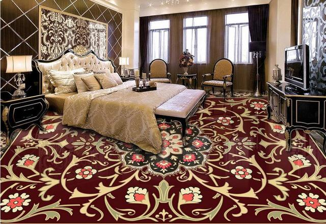 HD European 3d floor photo wallpaper Custom Marble carpet pattern 3d ...