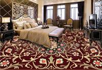 HD European 3d Floor Photo Wallpaper Custom Marble Carpet Pattern 3d Floor Tiles Self Adhesive Wallpaper