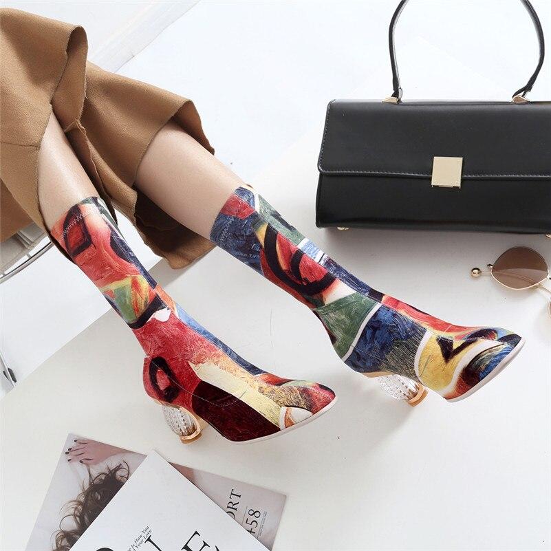 Mode Femmes Femme 4 Hauts Partie Nouvelle Longue 2 Talons Mince Genou Style Bottes Chaussures Marque De Deux Conasco 1 3 Chevalier Nuit Le Club Sur qzUpGSMV