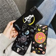 Cute fashion Sailor Moon soft phone cover case for iphone X XS MAX XR 8 7 6 6S plus matte silicon girl cases coque fundas capa цена и фото
